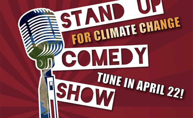 poster for stand up for climate change comedy show